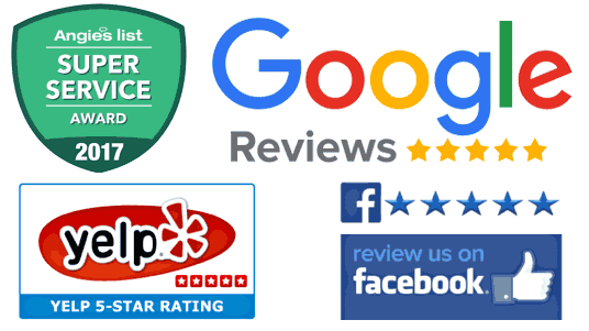 5 star reviews Google Facebook Yelp